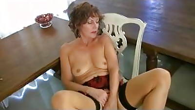 Mature Milf  concerning Seamed Stockings Strips and Fingers