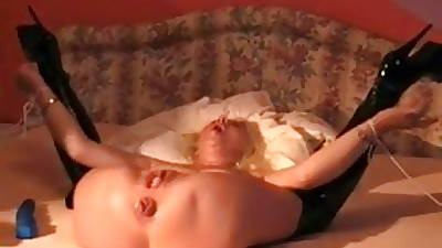 Blanched wife secured and fucked