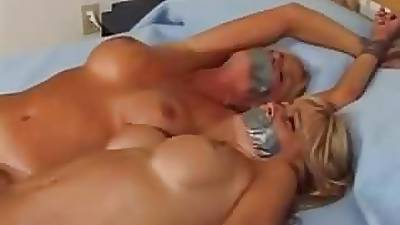 Mom Coupled with Daughter Tied Up