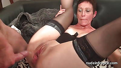 Horny french full-grown deep throat and hard banged and fisting