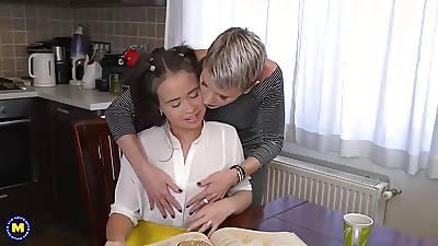 Dirty mom licks increased by fucks sweet teen son