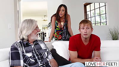 LoveHerFeet - Stepmom Wants My Cum Exceeding Will not hear of Feet