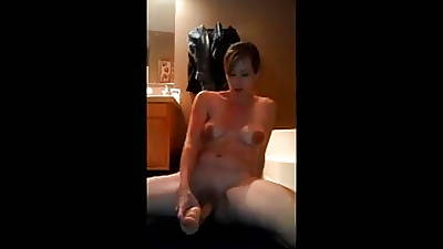 Mature Milf Big Nipples Dildo Scale