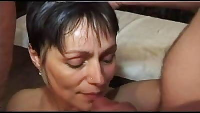 FRENCH CASTING n47 2 anal matures milfs on every side gang burgeon