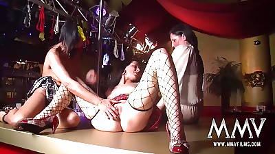 MMV FILMS German Of age Lesbian swinger striptease
