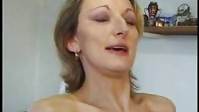 French MILF anal prevalent stockings with the addition of heels.