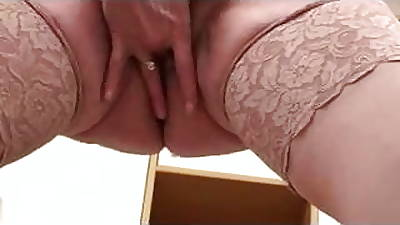 Hairy Mature Milf take Stockings Fingers