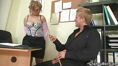 Office lady fucks her staff member