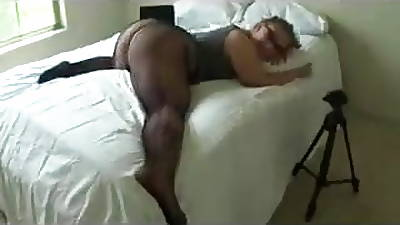 plump girl there black pantyhose