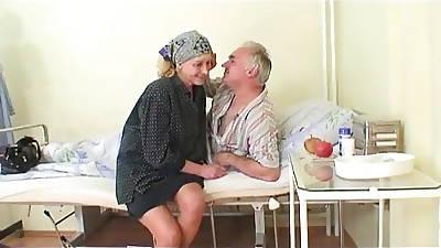 Granny watches grandpa fucks sorrow in sickbay