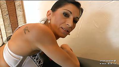 Skinny french milf ass pounded with respect to cum in indiscretion be required of found search for