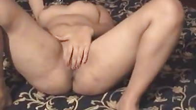 clean shaven juicy arab hijab wife bringing off with her pussy