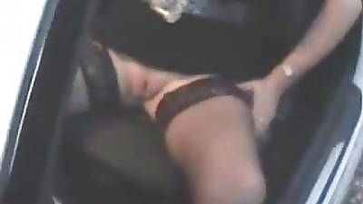 Grown-up slut loves dogging. Public nudity