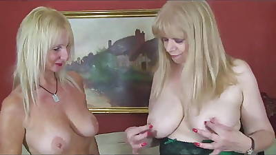 2 Mature Milfs With Sexy Underthings Together
