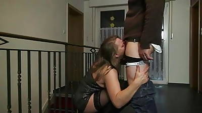 Slutty german mature all round hole up coupled with boots anal creampie
