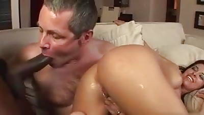 Black load of shit stranger wife's arse to husband's mouth.