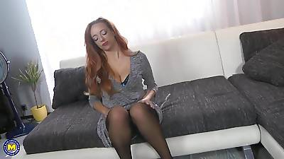 Upper-cut mom give big titties fucked by little one