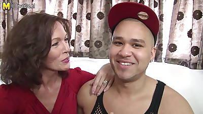 Blue British lady enjoys her toyboy s big cock