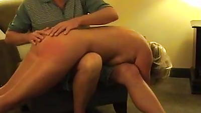 Hot Matured Blonde Punished- sucks and spanked