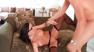 Hot MILF in the air black stockings naild hard - stockings charm