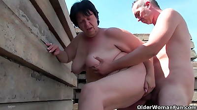 Grotesque grandma yon 1 swamped nipples fucked gone from