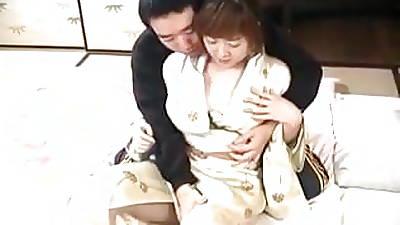Japanese AV Model has hot bosom sucked and fucked