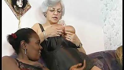 Interracial mature contrive orgy
