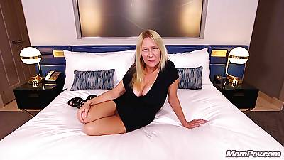 Horny Flaxen-haired MILF Sucks increased by Fucks Your Cock POV