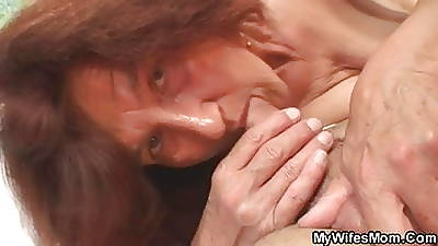 Tie the knot leaves and she fucks her constrained back son-in-law