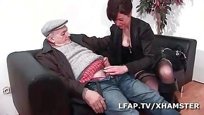 Milf francaise also pressurize en double abstruseness par Wil et Papy