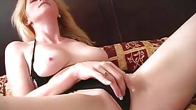 Successfully blonde beauty spreads legs plus plays all over her wet pussy then fucks