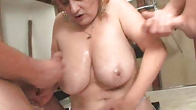 a handful of matures women fucked by a group of young guys