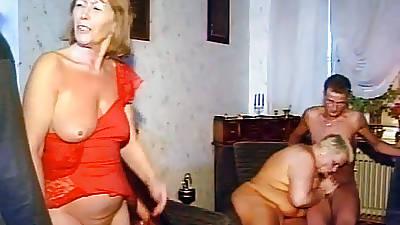 Home Granny Orgy