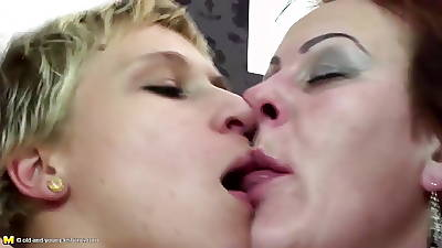 stepmother fucked coupled with pissed on by four sprouts
