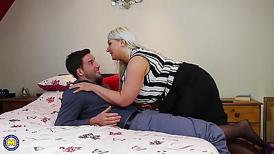 Mom with big natural confidential fucks lucky son