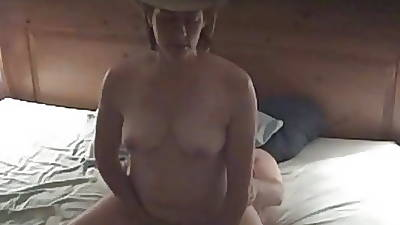 Cowgirl Rides Load of shit to Orgasm