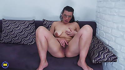MOM in hairy cunt saggy titties increased by huge aggravation
