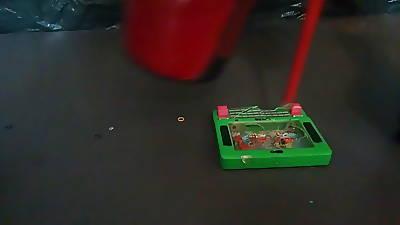 Nipper L crush green kickshaw with red sexy boots.