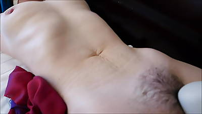 wife tied down, pussy fingered, vibed, dildo moving receive