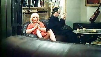 Blonde old lady gets naughty - vintage video