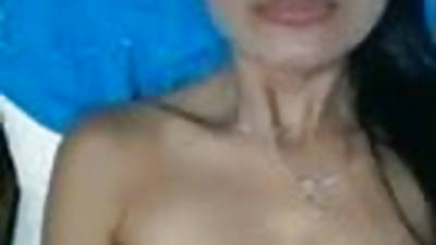 Phillipino milf with magnificent laconic tits shows her pussy