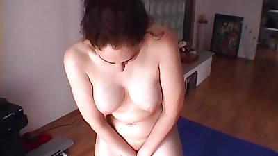 Despondent and prurient nude massage after a shower