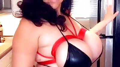 Obese tied alongside tits shown off