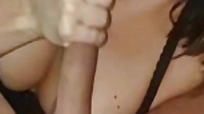 cute brunette close up sucking