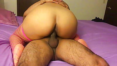 LATINA Obese Pest Fit together RIDING MY COCK