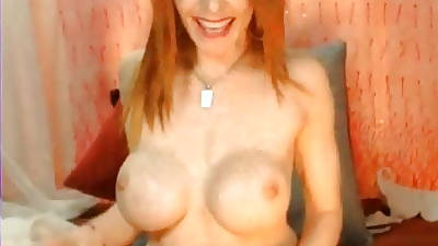 Check My MILF Dominate redhead of age mummy connected with big dildo