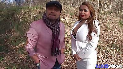 Perla latina with broad in the beam pair loves sodomy