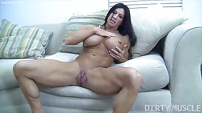 Angela Salvagno Huge Labia Beamy Clit Huge Dildo