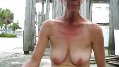 Mature flashing say no to saggy boobs