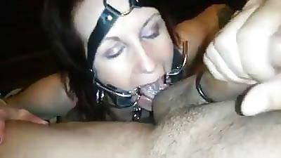 Bondage slave gets cum with respect to brashness